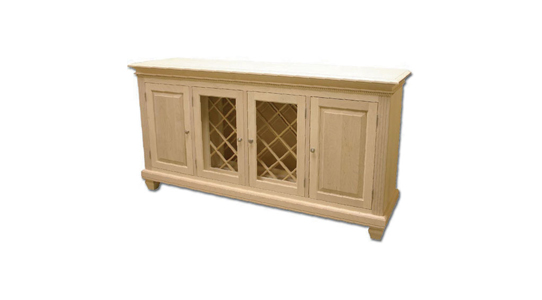 Buffet with Wine Rack No Drawers - 4 Doors